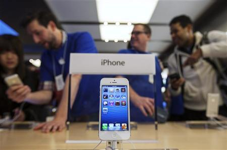 An Apple iPhone 5 phone is displayed